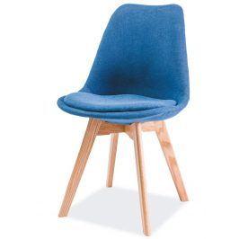 Jídelní židle DIOR, dub/modrá Židle do kuchyně