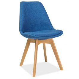 Jídelní židle DIOR, buk/modrá