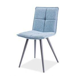 Jídelní čalouněná židle DARIO, modrá Židle do kuchyně