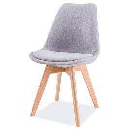 Jídelní židle DIOR, dub/světle šedá Židle do kuchyně