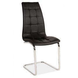 Jídelní čalouněná židle H-103, černá