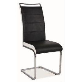 Jídelní čalouněná židle H-441, černá/bílá