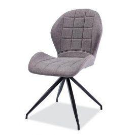 Jídelní čalouněná židle HALS II, šedá