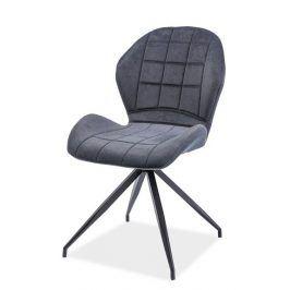 Jídelní čalouněná židle HALS II, grafit Židle do kuchyně