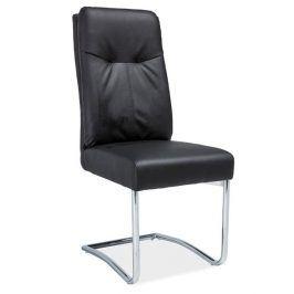Čalouněná židle H-340, černá