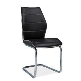 Jídelní čalouněná židle H-331, černá Židle do kuchyně