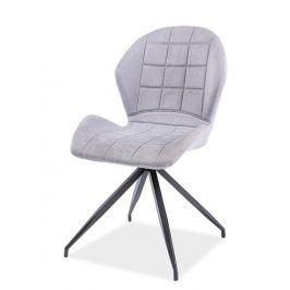 Jídelní čalouněná židle HALS II, světle šedá
