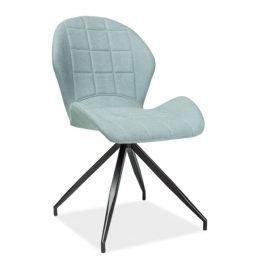 Jídelní čalouněná židle HALS II, mentolová