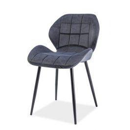 Jídelní čalouněná židle HALS, grafit Židle do kuchyně