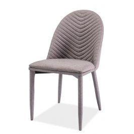 Jídelní čalouněná židle LUCIL, šedá Židle do kuchyně