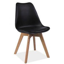Jídelní židle KRIS, černá/buk