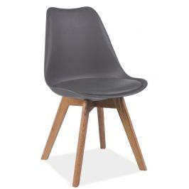 Jídelní židle KRIS, šedá/buk Židle do kuchyně