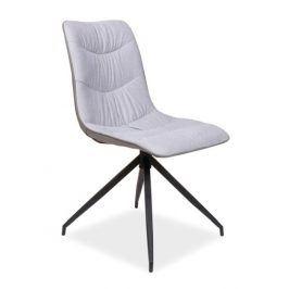 Jídelní čalouněná židle MALUS, šedá Židle do kuchyně