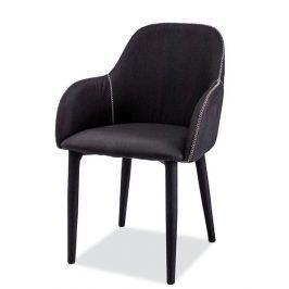 Jídelní čalouněná židle OSCAR, černá Židle do kuchyně