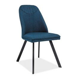 Jídelní čalouněná židle PABLO, tmavě modrá