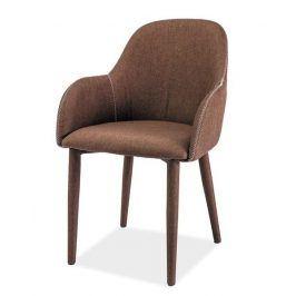 Jídelní čalouněná židle OSCAR, hnědá