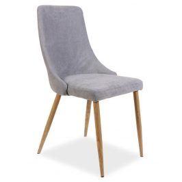 Jídelní čalouněná židle NOBEL, šedá