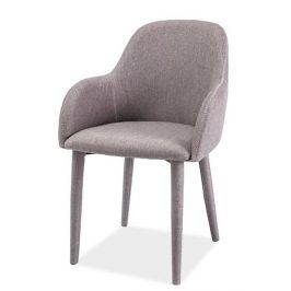Jídelní čalouněná židle OSCAR, šedá