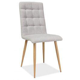 Jídelní čalouněná židle OTTO, béžová/dub