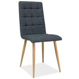 Jídelní čalouněná židle OTTO, grafit/dub