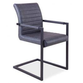 Jídelní čalouněná židle SOLID, šedá Židle do kuchyně