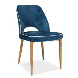 Jídelní čalouněná židle VERDI, modrá Židle do kuchyně