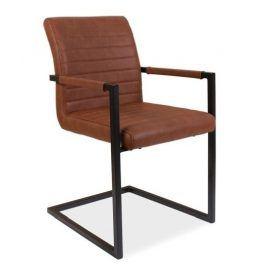 Jídelní čalouněná židle SOLID, hnědá