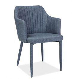 Jídelní čalouněná židle WELTON, grafit Židle do kuchyně