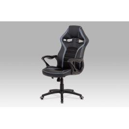 Kancelářská židle KA-G406 GREY, černá látka/šedá látka Kancelářská křesla