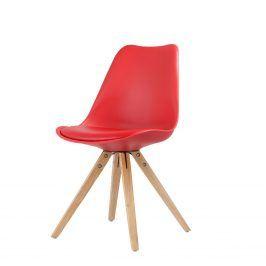 Jídelní židle LADY červená Židle do kuchyně