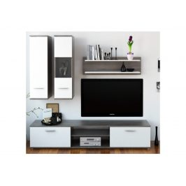 WAW obývací stěna, dub truflový / bílá