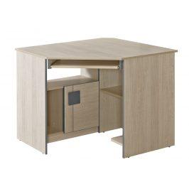 GIMMI, rohový PC stůl G11, dub santana/šedá