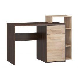 Psací stůl P RIO 04, dub sonoma tmavý/dub sonoma