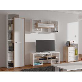 RIO obývací pokoj 2, dub sonoma/bílá