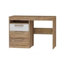 Psací stůl 3S MAXIMUS 03, craft zlatý/craft bílý