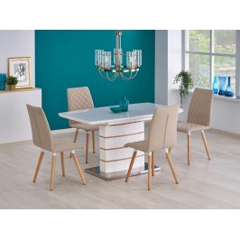 Rozkládací jídelní stůl 140-180x80 TORONTO, bílá/dub zlatý