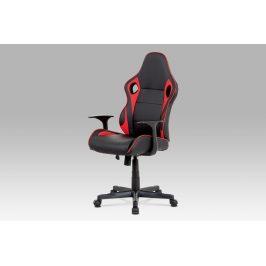 Kancelářská židle KA-E807 RED, černá/červená Kancelářská křesla