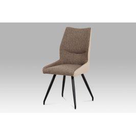 Jídelní židle DCH-351 CAP2, béžová/cappuccino/černá Židle do kuchyně