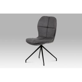 Jídelní židle HC-710 GREY3, šedá/černá