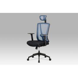 Kancelářská židle KA-H110 BLUE, černá/modrá Kancelářská křesla