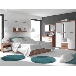 MAXIMUS ložnice 12, švestka/bílá