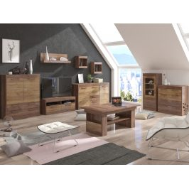 MAXIMUS obývací pokoj 6, craft tobaco/craft zlatý