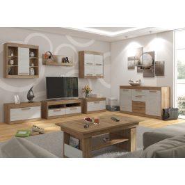 MAXIMUS obývací pokoj 2, craft zlatý/craft bílý