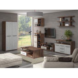 Obývací pokoj ANGEL 5, craft tobaco/craft bílý