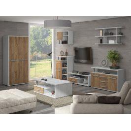 Obývací pokoj ANGEL 5, craft bílý/craft zlatý
