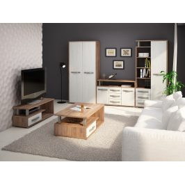 Obývací pokoj ANGEL 6, craft tobaco/craft bílý