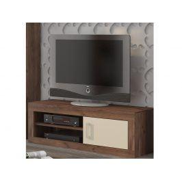 VERIN/21, televizní stolek 1D, craft tobaco/krém