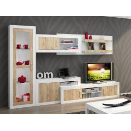 Obývací stěna VERIN 3, craft bílý/craft zlatý