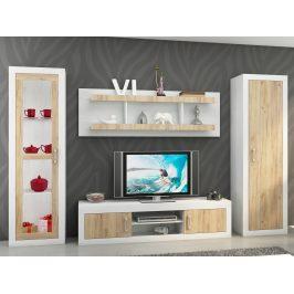 Obývací stěna VERIN 4, craft bílý/craft zlatý