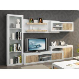 Obývací stěna VERIN 6, craft bílý/craft zlatý